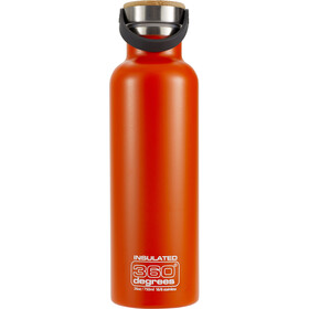 360° degrees Vacuum Insulated Drink Bottle 0.75 litres orange